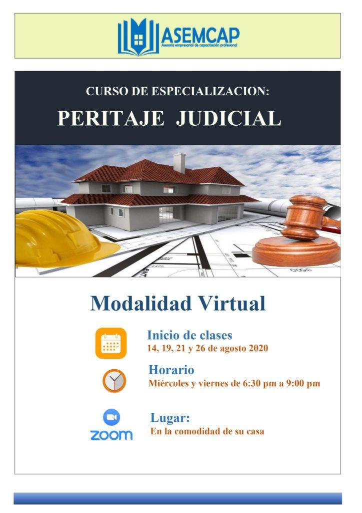 CURSO DE ESPECIALIZACIÓN PERITAJE JUDICIAL
